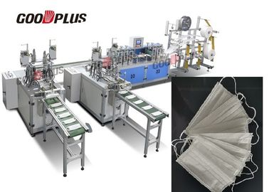 China AUTOMATIC DUST PROOF MULTI-LAYER NON-WOVEN MASK MAKING MACHINE (Double Out) supplier