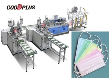 Double Out Non Woven Mask Making Machine Low Space Occupation